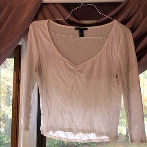 Crop long sleeve tee